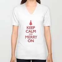 keep calm V-neck T-shirts featuring Keep Calm by Trend