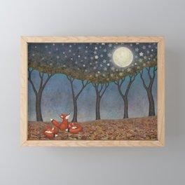 sleepy foxes Framed Mini Art Print