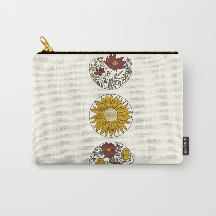 Floral Phases of the Moon Carry-All Pouch