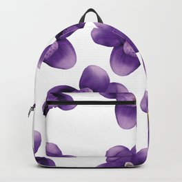 violet Blossoms of orchids II Backpack