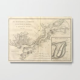 Vintage Map of Istanbul Turkey (1784) Metal Print