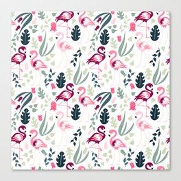 Flamingo Pattern 3 Canvas Print