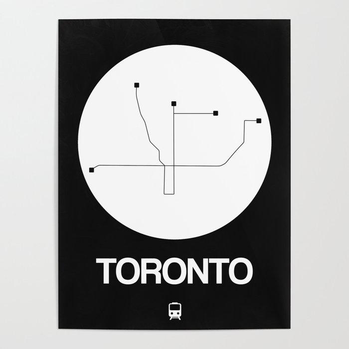 Toronto Subway Map Poster.Toronto White Subway Map Poster By Naxart