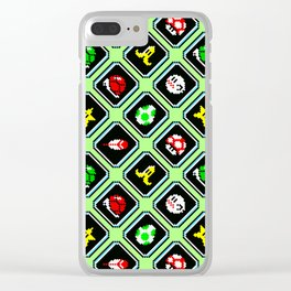Super Mario Kart (SNES)   items pattern   Green grass Clear iPhone Case