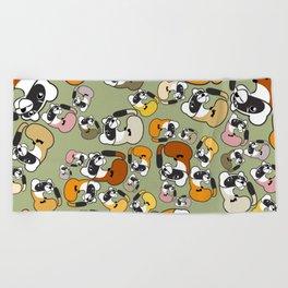 Black Footed Ferret pattern Beach Towel