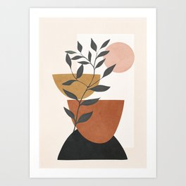 Branch and Elements Art Print