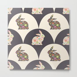 Rabbits and Scales Metal Print