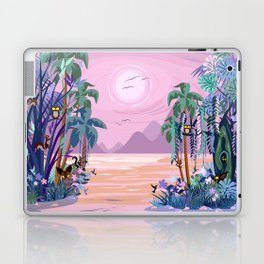 The Eyes of the Enchanted Misty Forest Laptop & iPad Skin