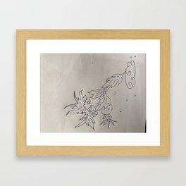 VLeesetende bloem Framed Art Print