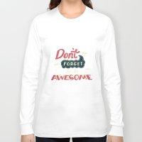risa rodil Long Sleeve T-shirts featuring DFTBA by Risa Rodil