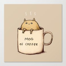 Mog of Coffee Canvas Print