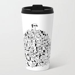 Pupper Pile Metal Travel Mug