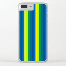 Team Colors 4...cool colors Clear iPhone Case