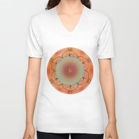 chakra V-neck T-shirts featuring Sacral Chakra by brenda erickson