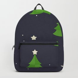 Green Christmas Tree Pattern Backpack