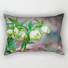Green Hellebore Rectangular Pillow