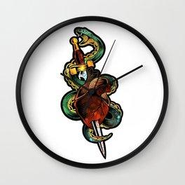 Snake Heat Wall Clock