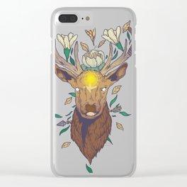 Cosmic Deer Clear iPhone Case