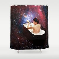 eugenia loli Shower Curtains featuring Bubble Bath by Eugenia Loli