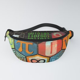 Math Game in black Fanny Pack