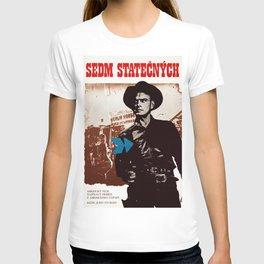 Vintage Czechoslovakian 1976 Poster - The Magnificent Seven T-shirt