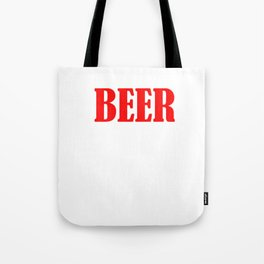Beer The Only Good Carb T-shirt Tote Bag
