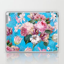 Vintage & Shabby Chic - Pastel Roses and Blush Orchid Flower Meadow Laptop & iPad Skin