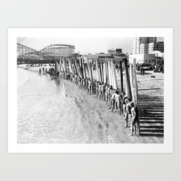 Long Beach Surf Contest 1930s Art Print