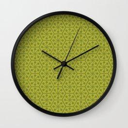 The hexagon sun – green Wall Clock