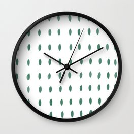 Paint Dabs in Green Wall Clock
