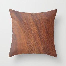 Brown wood shape Throw Pillow