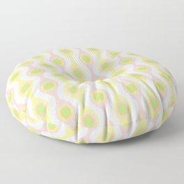 Ikat Stringed Beads Pattern - Pastel Sherbet Floor Pillow