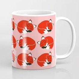 Sleepy Foxes Pattern Coffee Mug