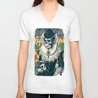 lady V-neck T-shirts featuring Lady by Ali GULEC