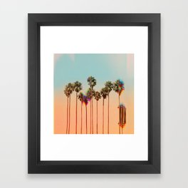 Glitch beach Framed Art Print
