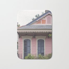 New Orleans Pink Creole Cottage Bath Mat