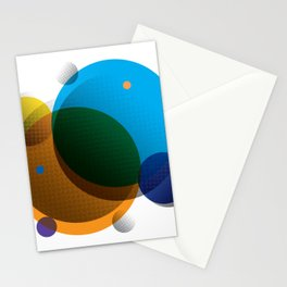 Overprint Circles 1 (Square) Stationery Cards