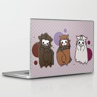 nori Laptop & iPad Skins featuring Dwarpaca family #3 by Lady Cibia