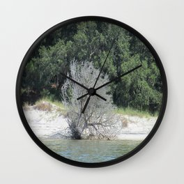 The Skeleton Tree on the Beach Wall Clock