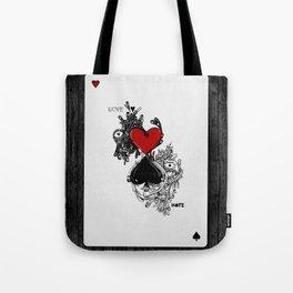 Love Hate Tote Bag