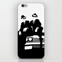 blues brothers iPhone & iPod Skins featuring Blues Brothers by Greg Koenig