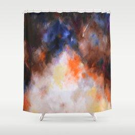 Autumn rain abstract, flipped Shower Curtain