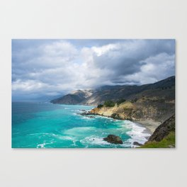 Parting Clouds in Big Sur Canvas Print