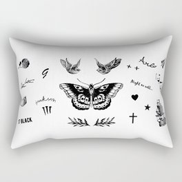 Harry's Tattoos Two Rectangular Pillow