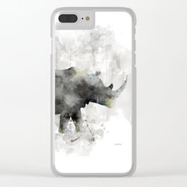 Rhino and Calf Clear iPhone Case