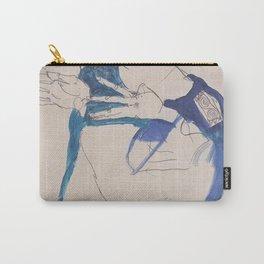 Egon Schiele Gustav Klimt Im Blauen Malerkittel Carry-All Pouch