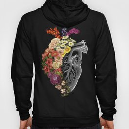 Flower Heart Spring Light Grey Hoody