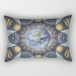 Keepers of the Garden // Bee Beehive Earth Environmentalist Ecology Garden Organic Honey Insect Rectangular Pillow
