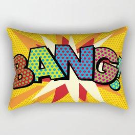 BANG Comic Book Modern Pop Art Fun Typographic Rectangular Pillow