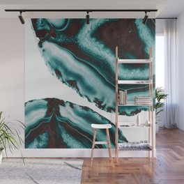 Turquoise Brown Agate #1 #gem #decor #art #society6 Wall Mural